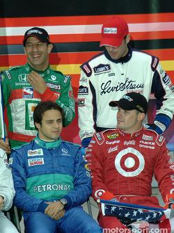 Tony Kanaan, Jimmie Johnson, Felipe Massa and Casey Mears