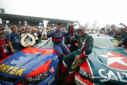 Marcos Ambrose and Russell Ingall celebrate championship
