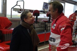 Carlos Reutemann and Jean Todt