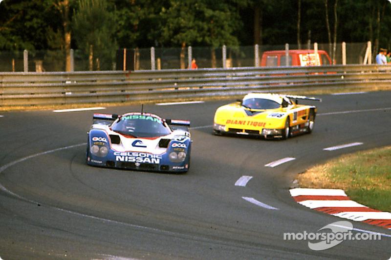 #23 Nissan Motorsport Nissan R89C: Masahiro Hasemi, Kazuyoshi Hoshino, Toshio Suzuki, #108 GP Motorsport Spice SE87C Ford, Dudley Wood, Philippe de Henning, Evan Clements