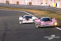 #7 Joest Racing Porsche 962C: Frank Jelinski, Pierre-Henri Raphanel, John Winter, #20 Team Davey Porsche 962C: Tim Lee-Davey, Tom Dodd-Noble, Katsunori Iketani