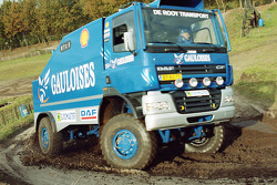 Team de Rooy presentation: Jan de Rooy tests the rally truck DAF CF75 FAV4x4