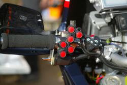 KTM team testing: detail of a KTM Repsol Red Bull bike