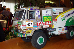 Tomas Tomecek Letka Racing Team presentation: a scale model of the Tatra 815 Dakar Terrno