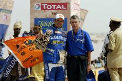 Podium: bike winner Cyril Despres