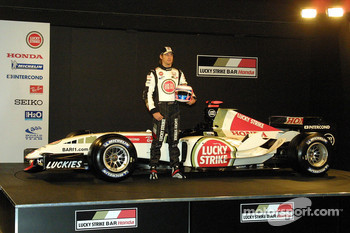 Jenson Button and the new BAR Honda 007