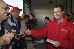 Ralf Schumacher meets fans during the Open Doors event