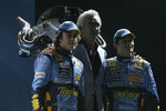 Fernando Alonso, Flavio Briatore and Giancarlo Fisichella
