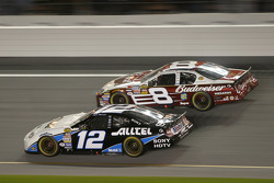 Ryan Newman and Dale Earnhardt Jr. battle