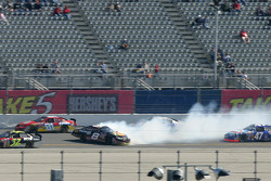 Martin Truex Jr. loses control on the superstretch