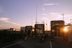 Sunrise between transporters