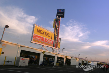 Sunrise over garage area