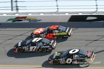 Kurt Busch, Jamie McMurray and Mike Bliss