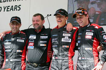 Minardi team launch: Chanock Nissany, Paul Stoddart, Patrick Friesacher and Christijan Albers
