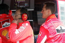 Michael Schumacher at pitwall