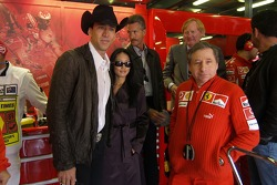 Jean Todt with actor Nicolas Cage and his wife Alice