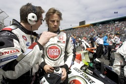 Jenson Button on the starting grid