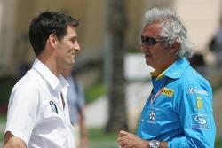 Mark Webber and Flavio Briatore