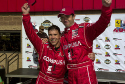 Race winner Scott Pruett and Luis Diaz celebrate