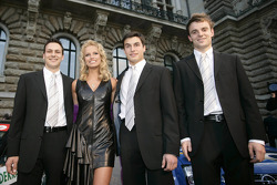 Gary Paffett, Miss North Germany Hiltja Mueller, Alexandros Margaritis and Jamie Green