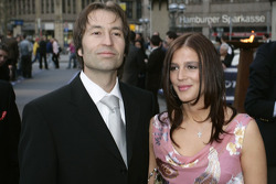 Heinz-Harald Frentzen and wife Tanja