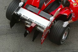 Rear wing of the Ferrari