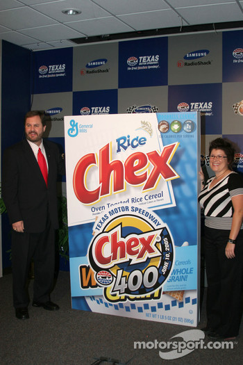 Press conference: Chex is announced as the sponsor for the Craftsman truck series race in June