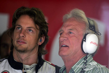 Jenson Button with his dad John