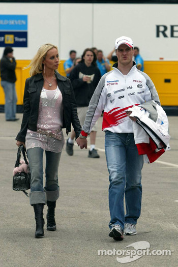 Ralf Schumacher with wife Cora