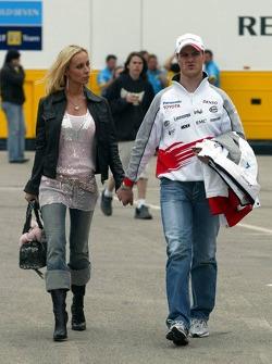 Ralf Schumacher with wife Cora