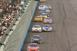 Bobby Hamilton Jr., Johnny Sauter, Jason Leffler, Mark Martin, Sterling Marlin, Travis Kvapil and Kyle Busch