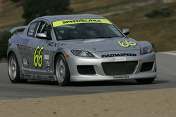 #66 SpeedSource Mazda RX-8: Marcelo Abello, Charles Espenlaub