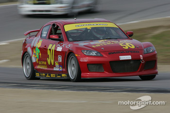 #50 Southpaw Racing Mazda RX-8: Mike Halpin, Ernie Becker