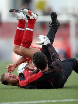 Football game at Campo de Deportes Municipal de Montmelo: Michael Schumacher