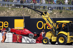 Car of Gianmaria Bruni removed from gravel trap