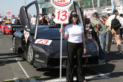 Grid girl for the #13 car