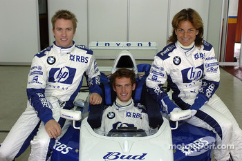 Nick Heidfeld with Arantxa Sanchez and Andrew Murray