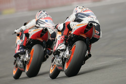 Nicky Hayden and Max Biaggi