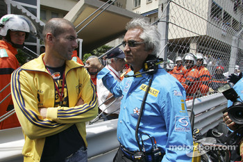 Flavio Briatore with football star Zinedine Zidane