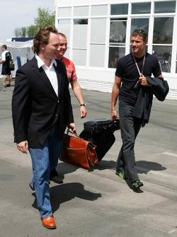 Christian Horner and David Coulthard
