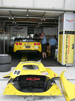 Corvette Racing garage area