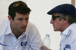 Mark Webber and Sir Jackie Stewart