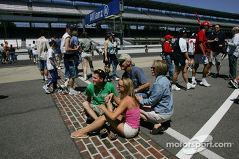 Fans at the brickyard