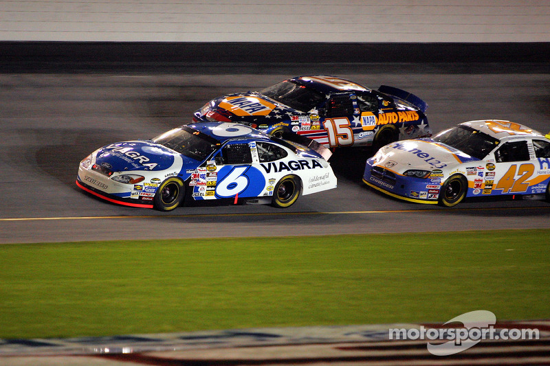 Mark Martin, Jamie McMurray and Michael Waltrip