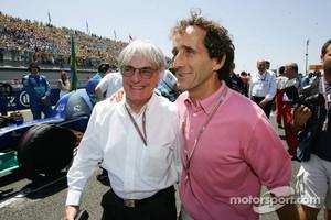 Bernie Ecclestone and Alain Prost