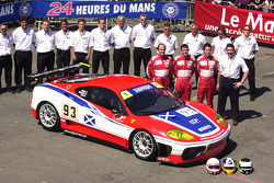 #93 Scuderia Ecosse Ferrari 360 Modena: Nathan Kinch, Andrew Kirkaldy, Anthony Reid and team