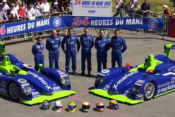 #18 and #8 Rollcentre Racing Dallara Judd: Martin Short, Joao Barbosa, Vanina Ickx, Michael Krumm, Harold Primat, Bobby Verdon-Roe