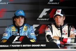 Press conference: pole winner Fernando Alonso with Jenson Button