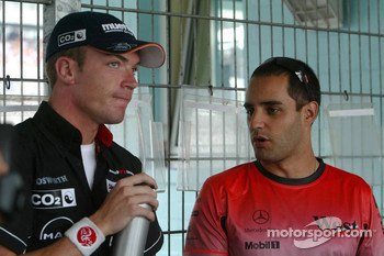 Robert Doornbos and Juan Pablo Montoya