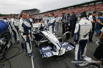 Williams team members at work